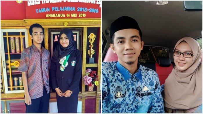Foto-foto saat Ayu hendak lulus SMA dengan Jamal yang masih menjadi guru honorer hingga menikah dan sudah menjadi PNS.