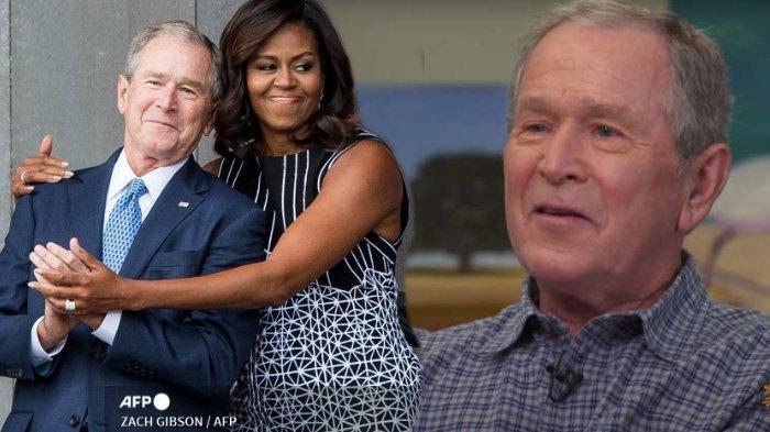 Bersahabat dengan Istri Barack Obama, George W Bush Mengaku Kaget Lihat Reaksi Publik