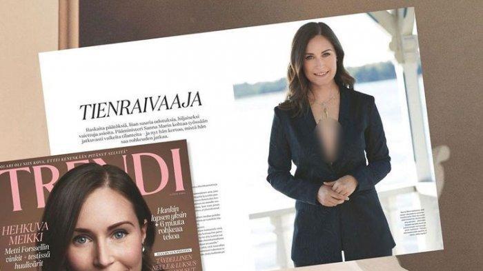 Foto Perdana Menteri Finlandia Diprotes Karena Terlalu Seksi Perlihatkan Belahan Dada