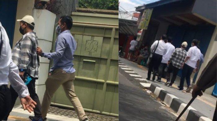 Foto saat salah seorang mahasiswa UNS ditangkap oleh aparat keamanan dd