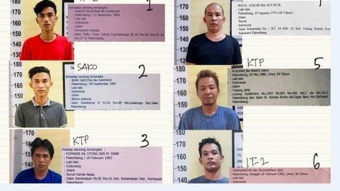 5 Tahanan Narkoba Diringkus di Kawasan Mariana dan Sukarami Palembang