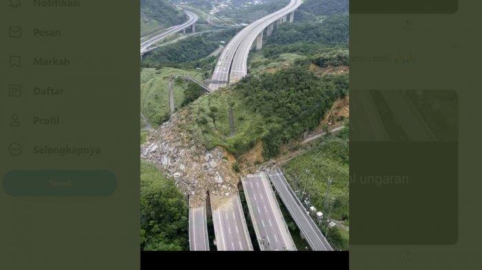 Foto yang diklaim sebagai longsor di Tol Ungaran
