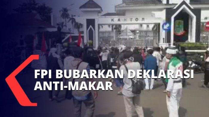 FPI Bubarkan Deklarasi Anti Makar, Tuding Demonstran Fitnah Rizieq, Massa Panik dan Kalang Kabut