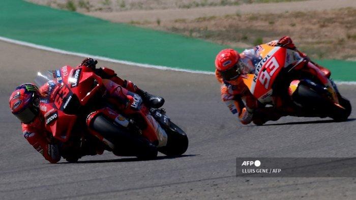 Hasil MotoGP Aragon 2021, Francesco Bagnaia Sukses Ungguli Marc Marquez, Quartararo Gagal Podium
