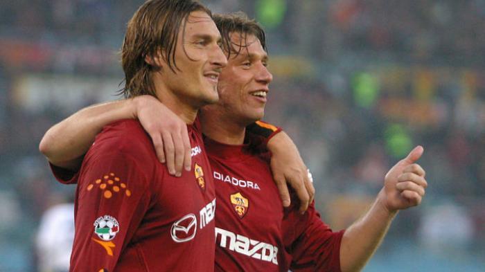 Francesco Totti dan Antonio Cassano