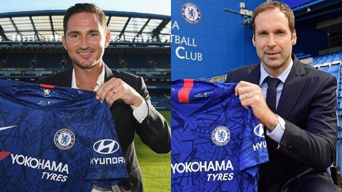 Frank Lampard dan Petr Cech diperkenalkan sebagai pengurus baru Chelsea