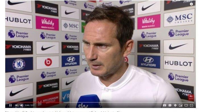 Frank Lampard seusai laga Chelsea vs Leicester, Minggu (19/8/2019)