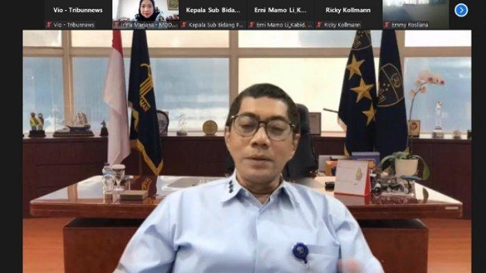Direktur Jendral Kekayaan Intelektual Freddy Haris saat jumpa pers virtual, Senin (27/9/2021).