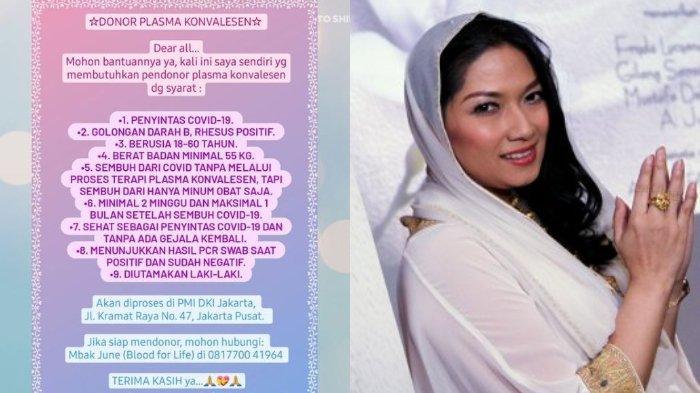Terpapar Covid-19, Fryda Lucyana Umukan Butuh Donor Plasma Konvalesen untuknya: Golongan Darah B