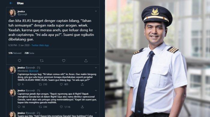 VIRAL Curhatan Penumpang Garuda Ditahan Pilot karena Dituduh Hina Maskapai, Ini Tanggapan Bos Garuda
