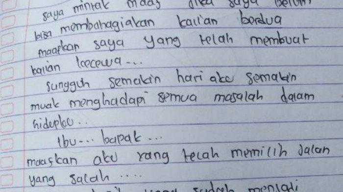 Di Facebook Beredar Info Pacar Siswi di Toraja yang Gantung Diri Susul Bunuh Diri, Ini Faktanya