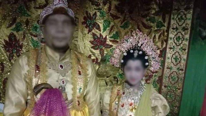 Gadis berinisial SF (12) yang menikah dengan pria difabel, B (44) di Pinrang, Sulawesi Selatan.