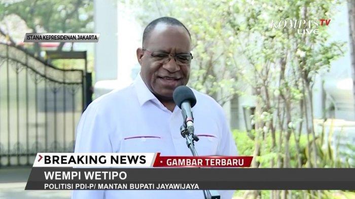 Gagal Jadi Gubernur, John Wempi Wetipo Dipilih Jokowi Menjadi Wamen PUPR di Kabinet Indonesia Maju