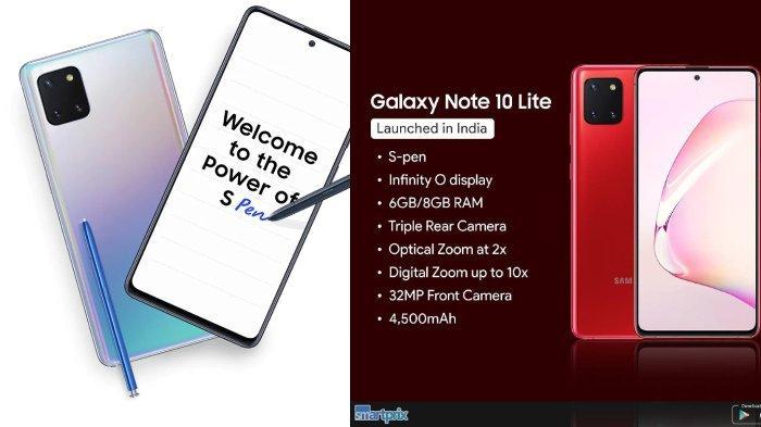 Galaxy Note 10 Lite dengan S pen