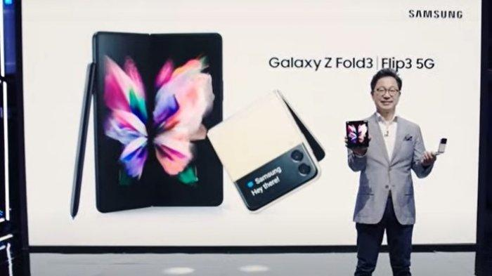 Yoonsoo Kim, President Samsung Electronics Indonesia di acara peluncuran Samsung Galaxy Z Flip3 5G, Kamis (9/9/2021).