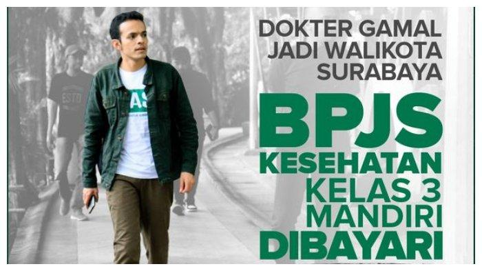 Gamal Albinsaid akan gratiskan BPJS Mandiri kelas III jika menjadi Wali Kota Surabaya.