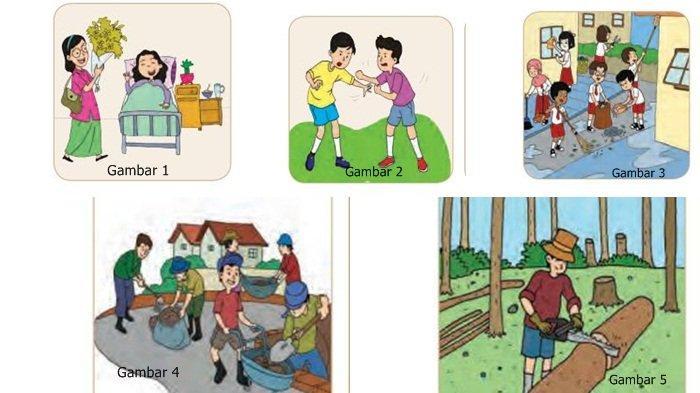 Gambar 1-5 Buku Tematik Kelas 4 Tema 9 Halaman 134-135.