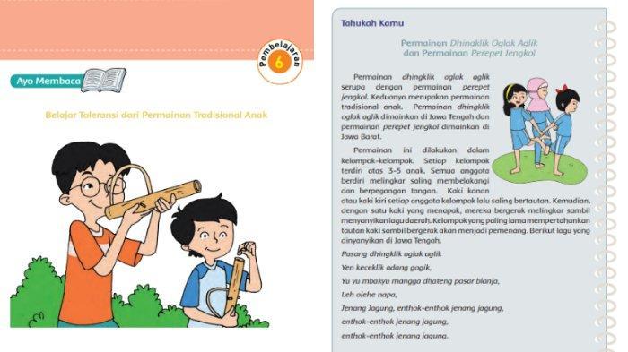 KUNCI JAWABAN Tema 8 Kelas 5 SD Halaman 44 45 47 49 Buku Tematik Subtema 1 Pembelajaran 6