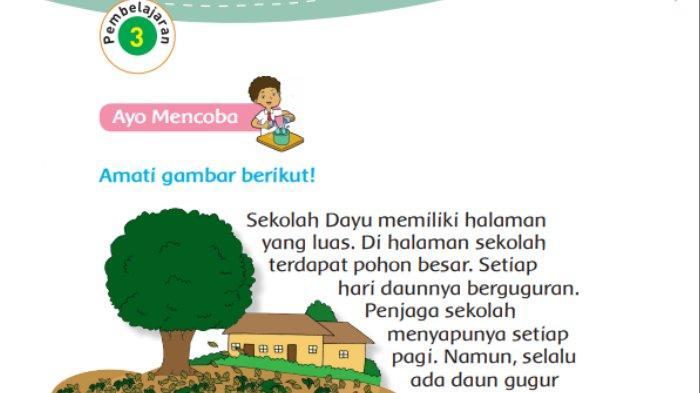 Sebutkan Kalimat yang Menunjukkan Masalah pada Teks 'Kegiatan Saat Jam Istirahat', Tema 4 Kelas 3 SD