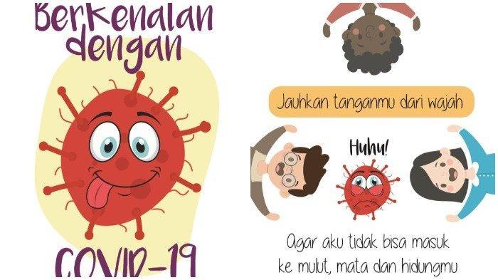 Gambar Kartun Pencegahan Virus Corona atau Covid-19