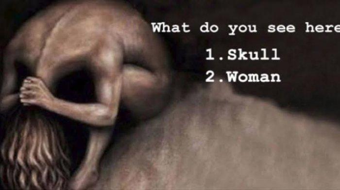 Tes Kepribadian - Gambar Pertama yang Kamu Lihat Ungkap Situasimu saat Ini, Wanita atau Tengkorak?