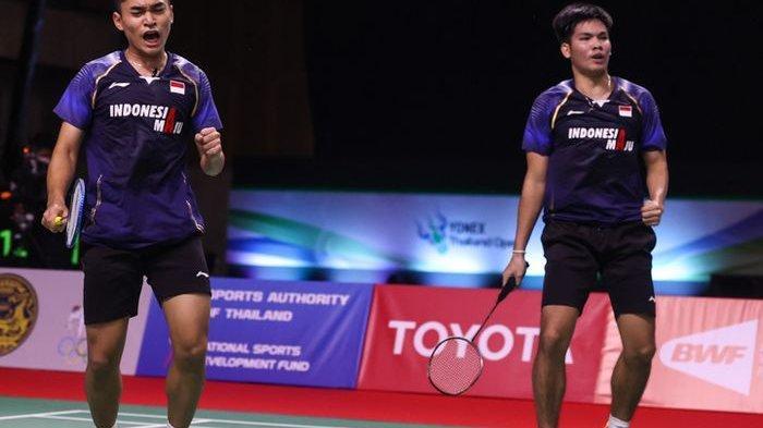 Ganda putra Indonesia, Leo Rolly Carnando dan Daniel Marthin, pada babak perempat final Thailand Open I 2021, Jumat (15/1/2021)