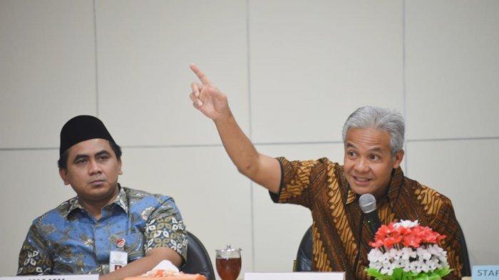Gubernur Jawa Tengah Ganjar Pranowo dan Wakil Gubernur Jawa Tengah Taj Yasin Maimoen