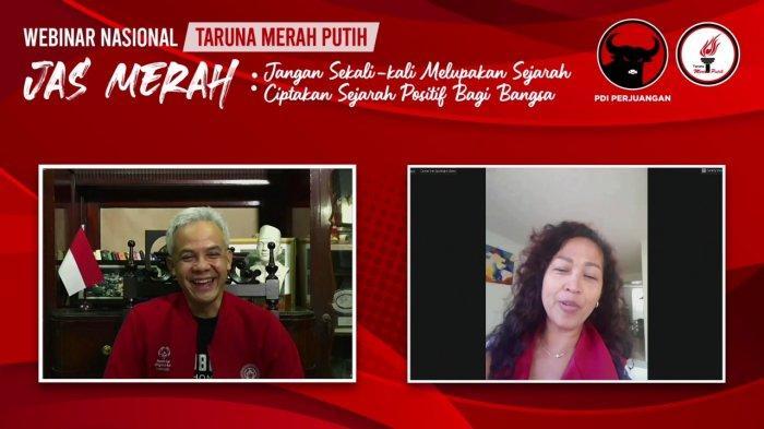Ganjar Pranowo ditanya Debi perwakilan dari Belanda  pada webinar yang diadakan TMP bertema
