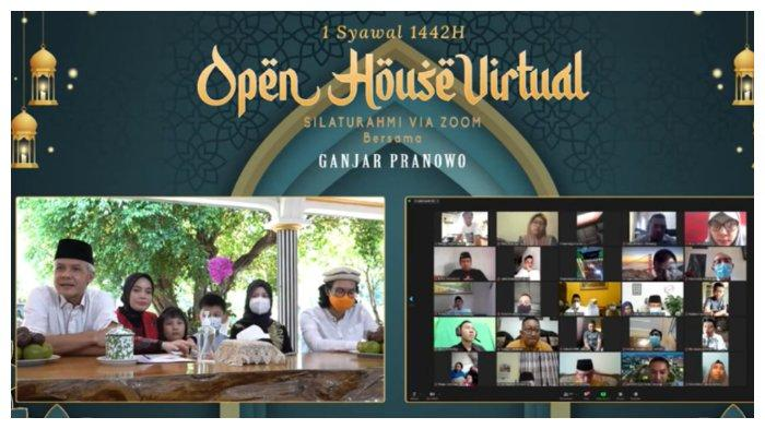Gelar Open House Virtual, Ganjar Pranowo Bagi Hadiah Produk UMKM hingga Barang Elektronik