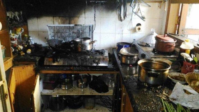 Dapur Rumah di Depok Hangus Terbakar Gara-gara Gas Bocor