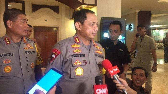 Kapolda Metro Jaya Irjen Pol Gatot Eddy Pramono di Hotel Shangri-La, Jakarta Pusat, Jumat (29/3/2019)