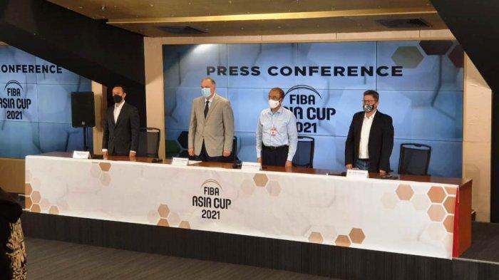 Gatot S Dewa Broto saat menghadiri peluncuran logo resmi FIBA Asia Cup 2021
