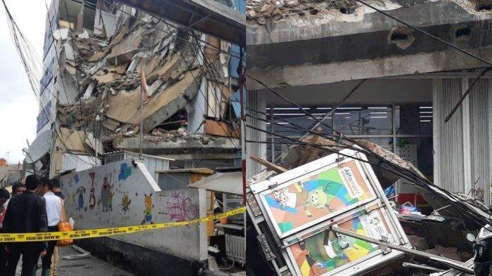Gedung empat lantai di kawasan Slipi ambruk pada Senin (6/1/2020), penuturan saksi mata hingga identitas korban.