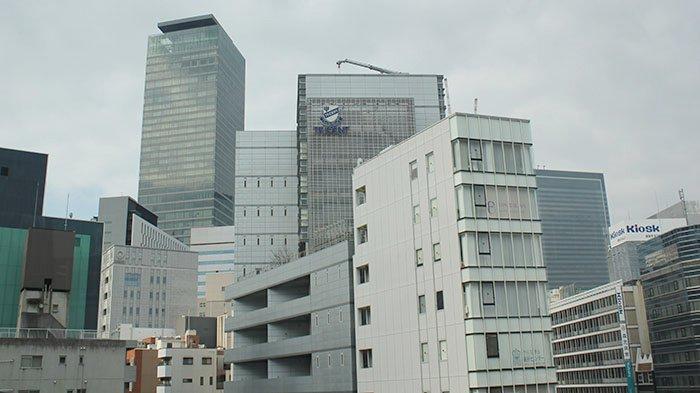 Suasana gedung-gedung bertingkat di Kota Nagoya Perfektur Aichi, Jepang.