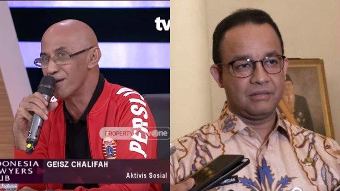 Geisz Chalifah bela Anies Baswedan di Indonesia Lawyer Club, sebut Anies miliki prestasi luar biasa. (YT Indonesia Lawyer Club Kompas.com/Nursita Sari)