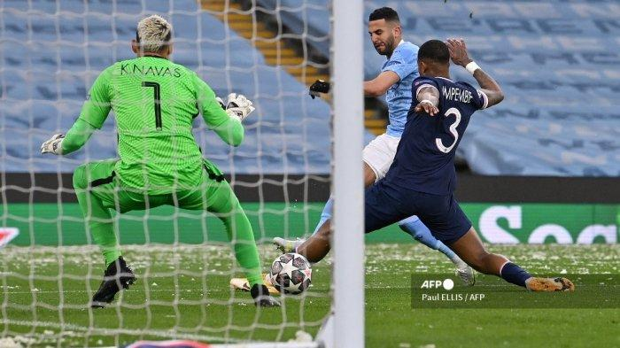 HASIL Babak I Man City vs PSG, Mahrez Bawa Langkah The Citizens ke Final <a href='https://manado.tribunnews.com/tag/liga-champions' title='Liga Champions'>Liga Champions</a> Kian Nyata