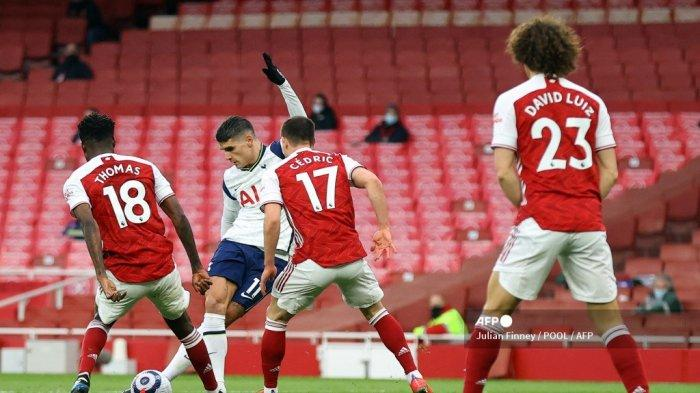 HASIL Arsenal vs Tottenham Babak I - Son Cedera, Lamela Cetak Gol Rabona, Skor Imbang 1-1