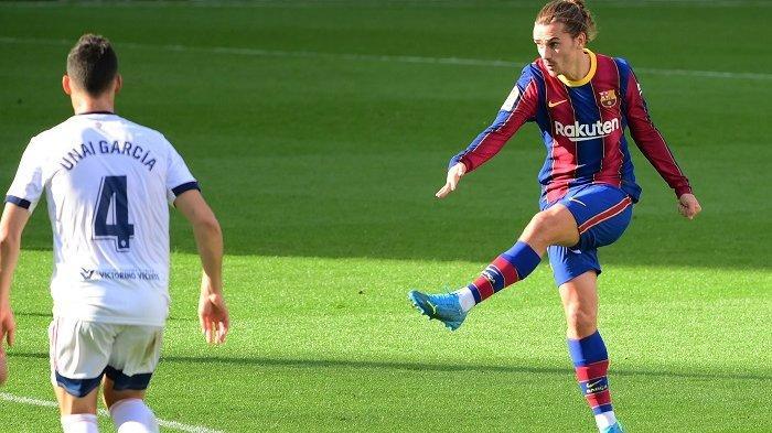 Video Gol Cantik Melengkung dari Tendangan Pisang Antoine Griezmann, Belajar dari Lionel Messi?