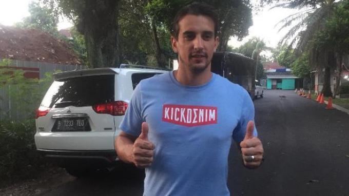 Gelandang Bhayangkara FC Flavio Beck saat ditemui di Mess Bhayangkara FC, Wijaya XVI, Jakarta, Selasa (18/6/2019).
