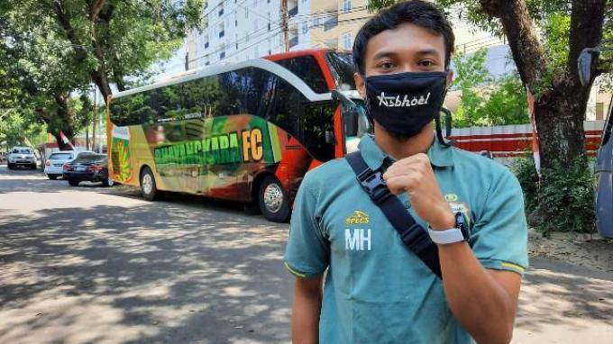 Muhammad Hargianto Selalu Kenakan Masker, Jaga Jarak Juga Diterapkan