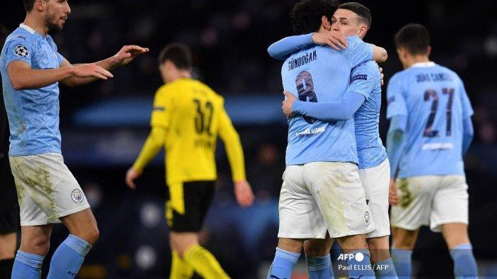 HASIL Liga Champions - Manchester City Selangkah di Semifinal Seusai Bekuk Dortmund 2-1