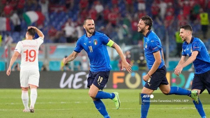 HASIL Italia vs Swiss Euro 2020 - Brace Locatelli Antarkan Italia Jadi Tim Pertama Lolos Fase Grup