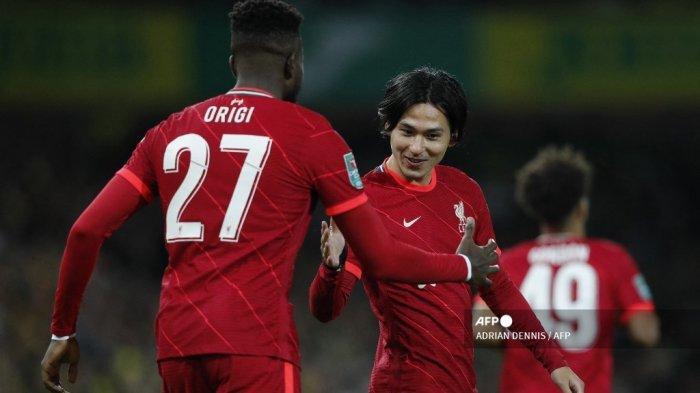 Hasil Carabao Cup Tadi Malam: Minamino & Origi Beri Kemenangan Liverpool, Man City Pesta Gol