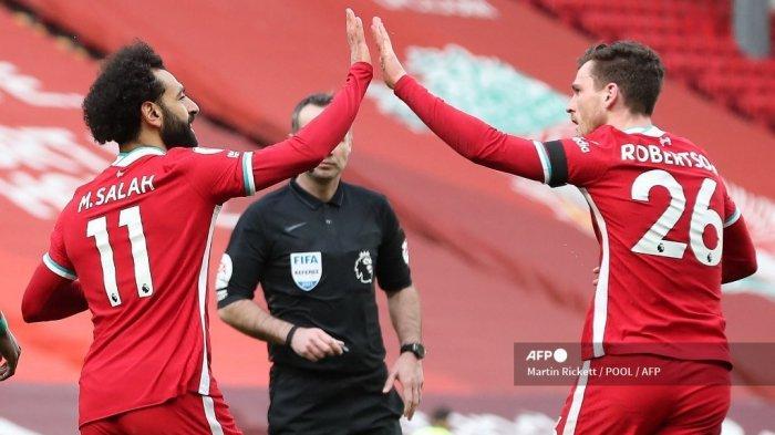 HASIL Liga Inggris, Liverpool Balas Kekalahan dari Aston Villa 2-1 di Anfield
