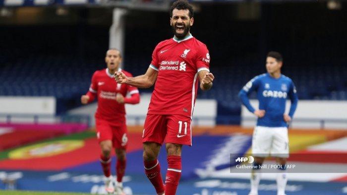 Hasil Everton Vs Liverpool: Imbang 2-2, Mohamed Salah Bikin Gol ke-100