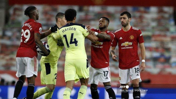 HASIL Babak Pertama Manchester United vs Newcastle Liga Inggris, 6 Menit Tercipta 2 Gol, Skor 1-1