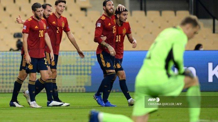 Hasil UEFA Nations League Tadi Malam, Spanyol Gilas Jerman 6 Gol, La Furia Roja Ukir Sejarah Baru