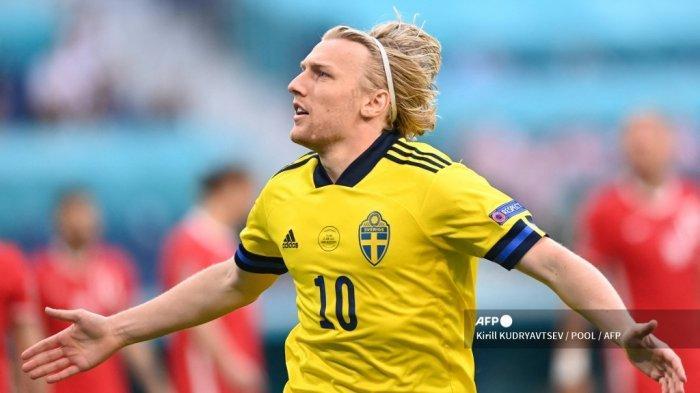 Hasil Babak I <a href='https://manado.tribunnews.com/tag/swedia' title='Swedia'>Swedia</a> vs <a href='https://manado.tribunnews.com/tag/polandia' title='Polandia'>Polandia</a>: Cetak Gol 81 Detik, Forsberg Catat Sejarah di Piala Eropa