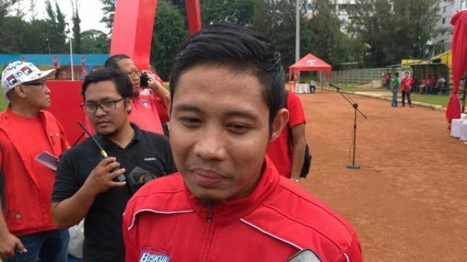 Gelandang Timnas Indonesia, Evan Dimas saat ditemui di kawasan Kuningan, Jakarta Selatan, Sabtu (11/1/2020).