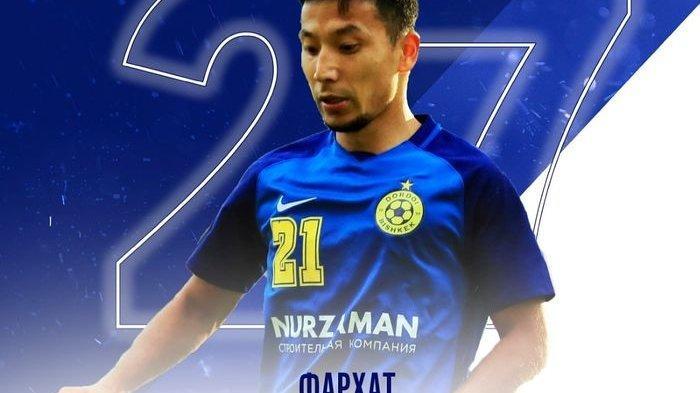 Gelandang timnas Kirgizstan yang membela FC Dordoi Bishkek, Farkhat Musabekov.